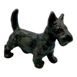 Antique Early 20th Century Cast Iron Scottish Terrier Doorstop Figurine
