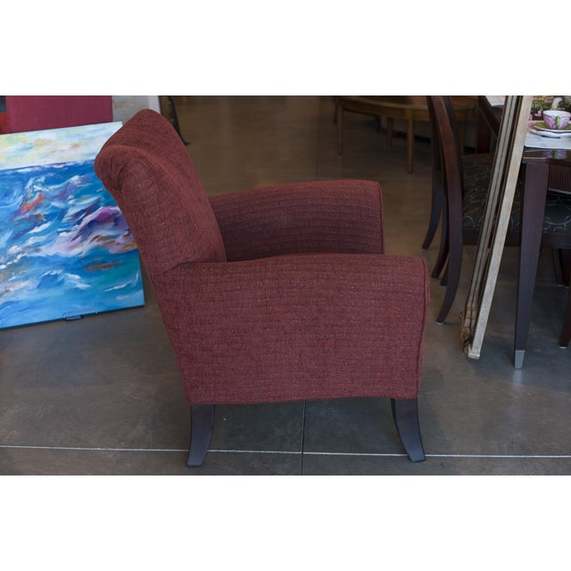 Casual Red Upholstered Accent Chair - Image 2 of 4