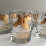 Image of Ring Necked Pheasant Vintage Cocktail Glasses - 8
