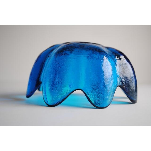 Image of Handblown Turquoise Glass Bowl