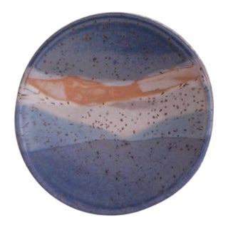 Blue Flecked Ceramic Wall Hanging