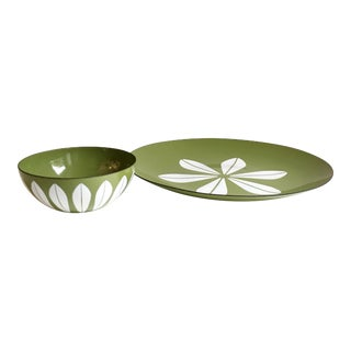 Cathrineholm Lotus Enamel Bowl & Charger Set - A Pair
