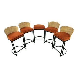 Milo Baughman for Shaver-Howard Cantilever Bar Stool - Set of 5
