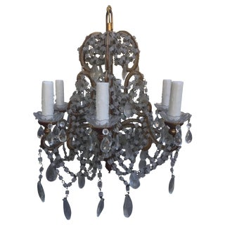 Italian Crystal Macaroni Beaded Chandelier
