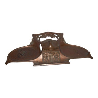 Art Nouveau Copper Inkwell