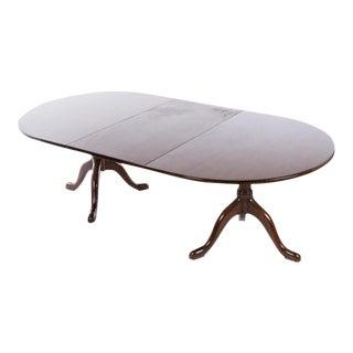 Kittinger Williamsburg Mahogany Pedestal Dining Table