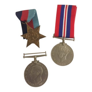 British Medals with Ribbons - Set of 3