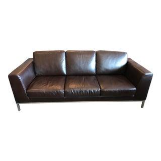 Italsofa Dark Brown Leather Sofa