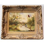 Image of Original Oil on Canvas Birds Painting