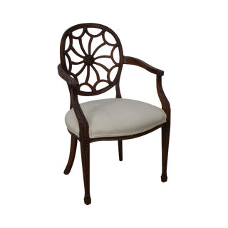 Regency Style Spider Back Arm Chair
