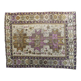 "Traditional Antique Shervan Rug - 3'5"" x 4'5"""