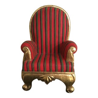 Gold Leaf Frame & Red Striped Chair