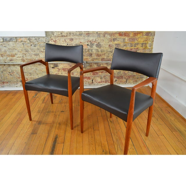 Ejner Larsen & Aksel Bender Madsen for Willy Beck Danish Teak Dining Chairs- Set of 6 - Image 6 of 7