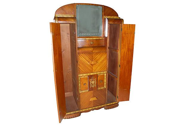 Vintage Art Deco Chifferobe Armoire  Chairish -> Deco Armoire Métallique Vintage