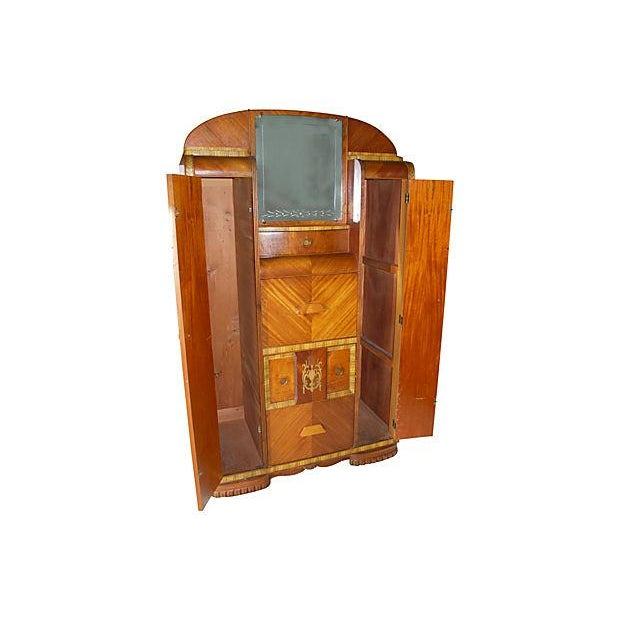 vintage art deco chifferobe armoire chairish. Black Bedroom Furniture Sets. Home Design Ideas