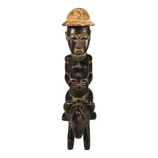 African Baule Horseman Statue