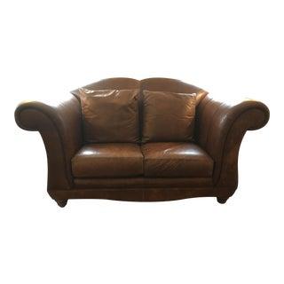 Henredon Registry Brown Leather Loveseat