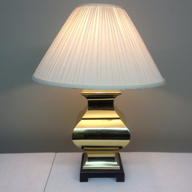 Large Brass Asian Table Lamps - A Pair - Image 5 of 9