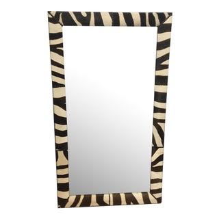 Faux Zebra Frame Wall Mirror