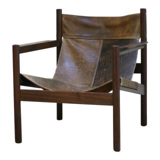 Michel Arnoult Leather Sling Chair