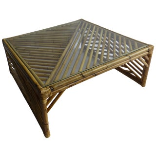 MCM McGuire Style Bamboo Coffee Table