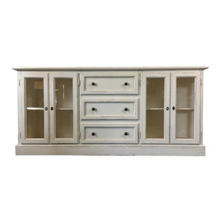 Crate & Barrel White Painted Wood Sideboard