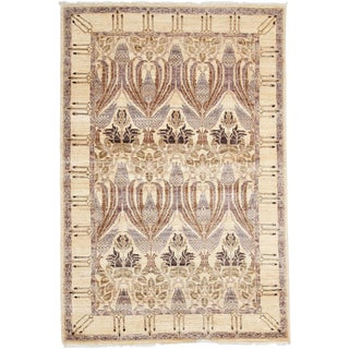 "Arts & Crafts, Hand Knotted Area Rug - 4' 0"" X 5' 10"""
