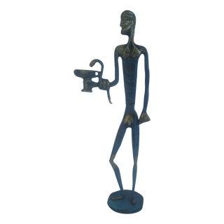 Israeli Vintage Brass Statue