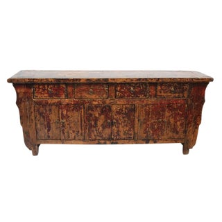 Antique Chinese Shandong Wooden Sideboard