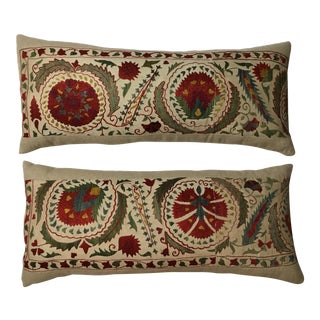 Embroidered Suzani Pillows - A Pair