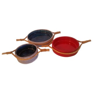 Jean & Robert Coutier Ceramic Dishes - Set of 3