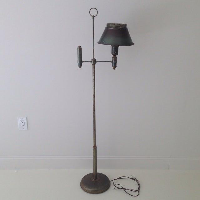 Bronze Colored Tole Floor Lamp - Image 2 of 11
