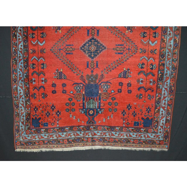 "Antique Persian Afshar Rug - 4'6"" x 5'5"" - Image 5 of 8"