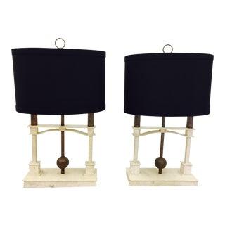Vintage Mid-Century Modern Art Deco Lamps - a Pair