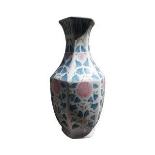 Hand Painted Peonies Porcelain Vase
