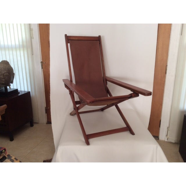 Antique Ocean Liner Folding Deck Chair - Image 9 of 11