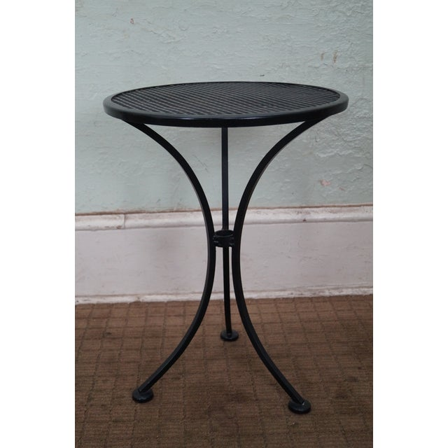 Round Metal Patio Side Tables - A Pair - Image 5 of 10