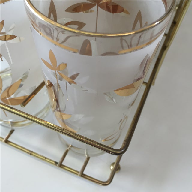 Mid-Century Cocktail Glasses W Caddy - S/9 - Image 5 of 7