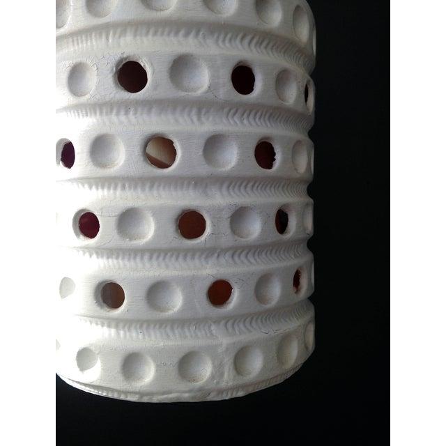 Vintage Pierced Ceramic Pendant Lamp - Image 6 of 6