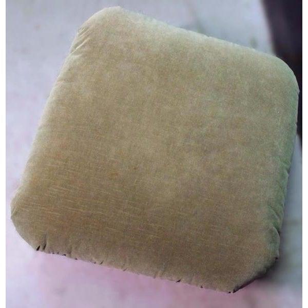Donghia Olive Green Velvet Ottoman - Image 6 of 9