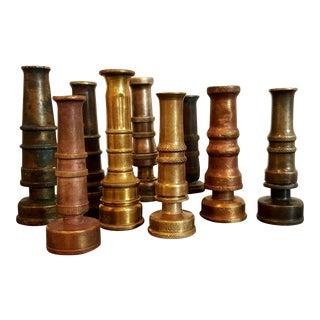 Vintage Brass Garden Nozzles - Set of 9