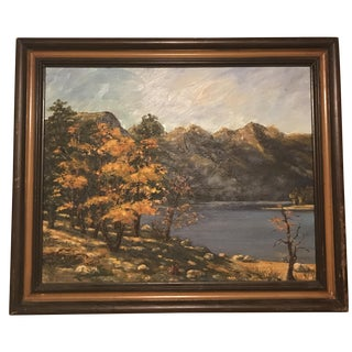 Vintage Impressionist Mountain Landscape