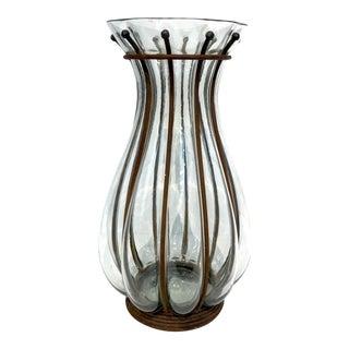 Brutalist Caged Glass Vase