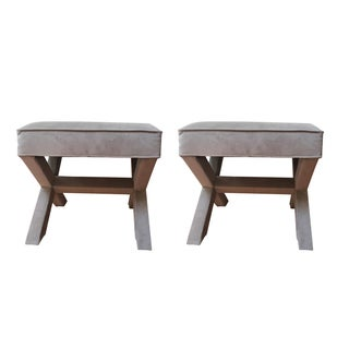 West Elm Cross Bench Ottomans - a Pair