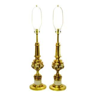 1950s Vintage Hollywood Regency Stiffel Table Lamps - A Pair