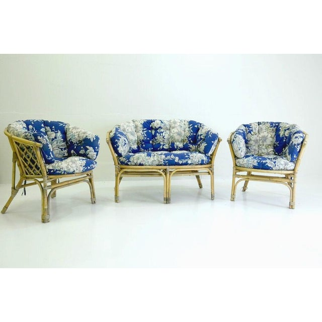 Mid-Century Danish Rattan Lounge Set - 3 - Image 2 of 10