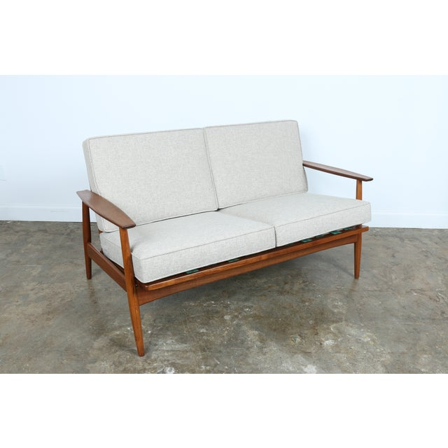 Danish Modern Teak Loveseat Chairish