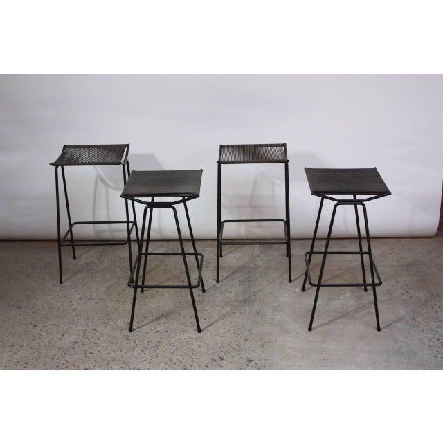 Set of Four Allan Gould Iron and Rope Stools - Image 2 of 10