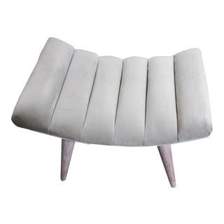 Russel Wright Channeled Curved Ottoman