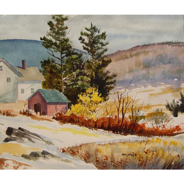 Homestead & Mountains Reversible Paintings - Image 1 of 3